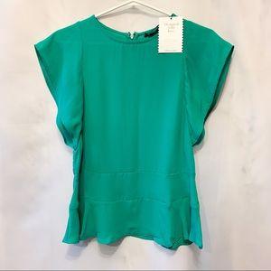 NWT Stella & Dot Seafoam Green Short Sleeve